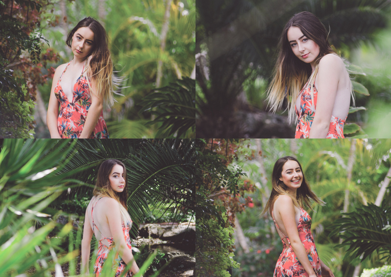 Model shoot ,Botanical gardens