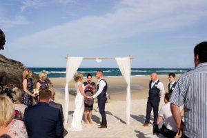 Amanda + Gavin Married xx North Burleigh beach wedding  148