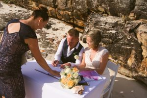 Amanda + Gavin Married xx North Burleigh beach wedding  155