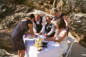 Amanda + Gavin Married xx North Burleigh beach wedding  156