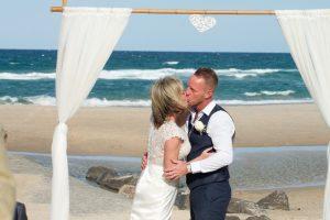 Amanda + Gavin Married xx North Burleigh beach wedding  160