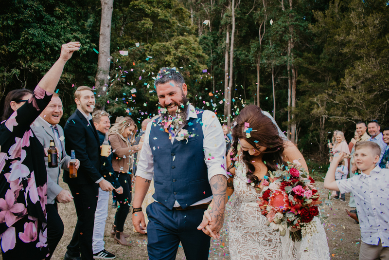 Melanie & Cameron - Married xx Gold Coast Farm House, Numinbah Valley  23
