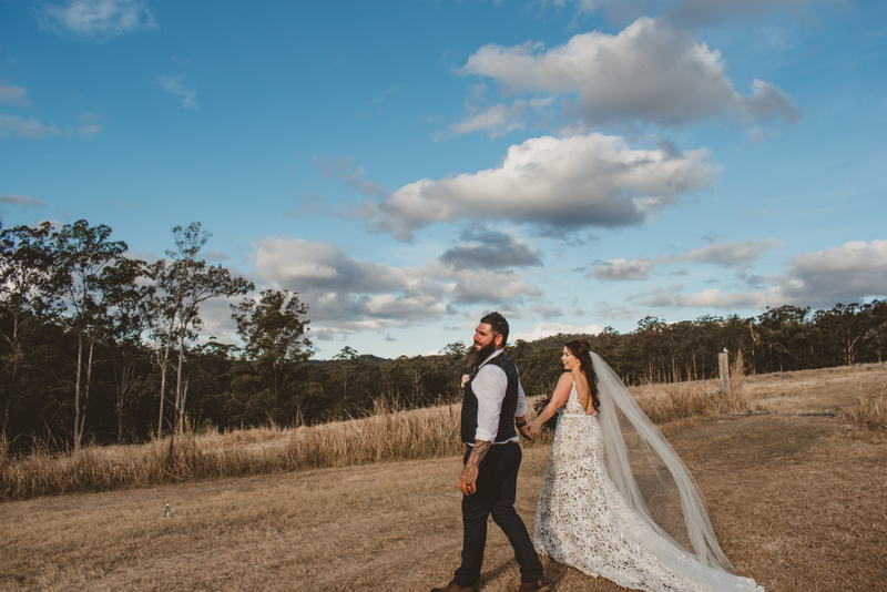 Melanie & Cameron - Married xx Gold Coast Farm House, Numinbah Valley  37