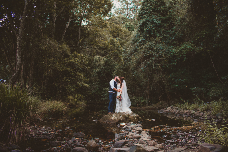 Melanie & Cameron - Married xx Gold Coast Farm House, Numinbah Valley  73