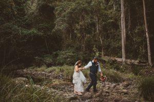 Melanie & Cameron - Married xx Gold Coast Farm House, Numinbah Valley  47
