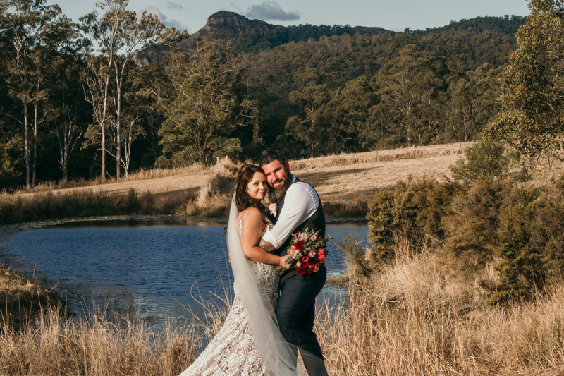 Melanie & Cameron - Married xx Gold Coast Farm House, Numinbah Valley  149