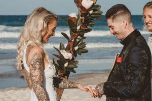 Katie & Raphael- Married xx North Burleigh beach elopement xx  113