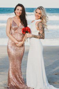 Katie & Raphael- Married xx North Burleigh beach elopement xx  123