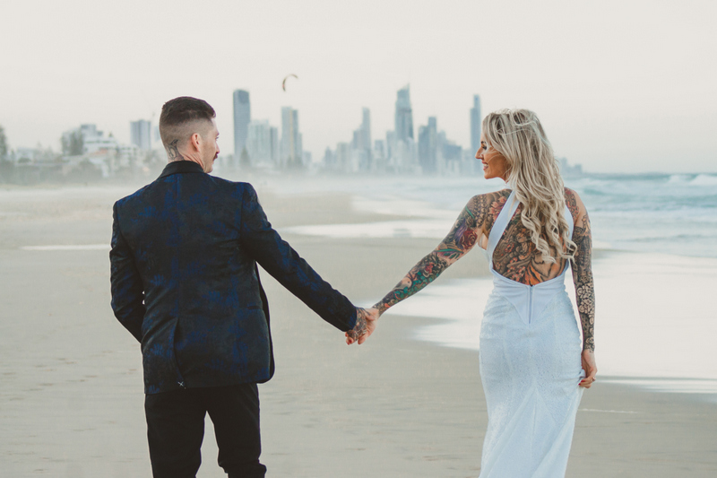 Katie & Raphael- Married xx North Burleigh beach elopement xx  15