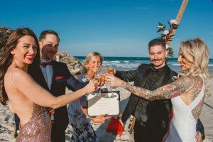Katie & Raphael- Married xx North Burleigh beach elopement xx  43