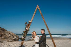 Katie & Raphael- Married xx North Burleigh beach elopement xx  46