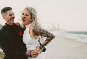 Katie & Raphael- Married xx North Burleigh beach elopement xx  68