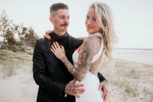 Katie & Raphael- Married xx North Burleigh beach elopement xx  73