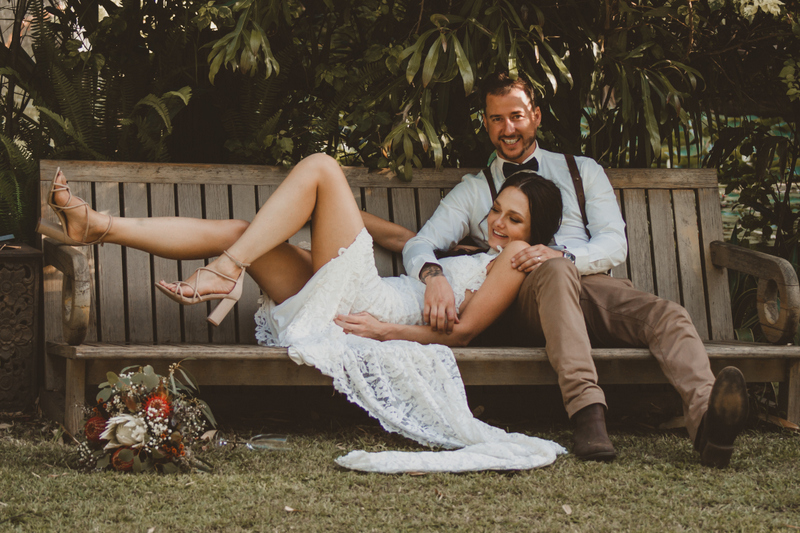 Lisa & Justin- married xx Sol Gardens, Currumbin Valley  31